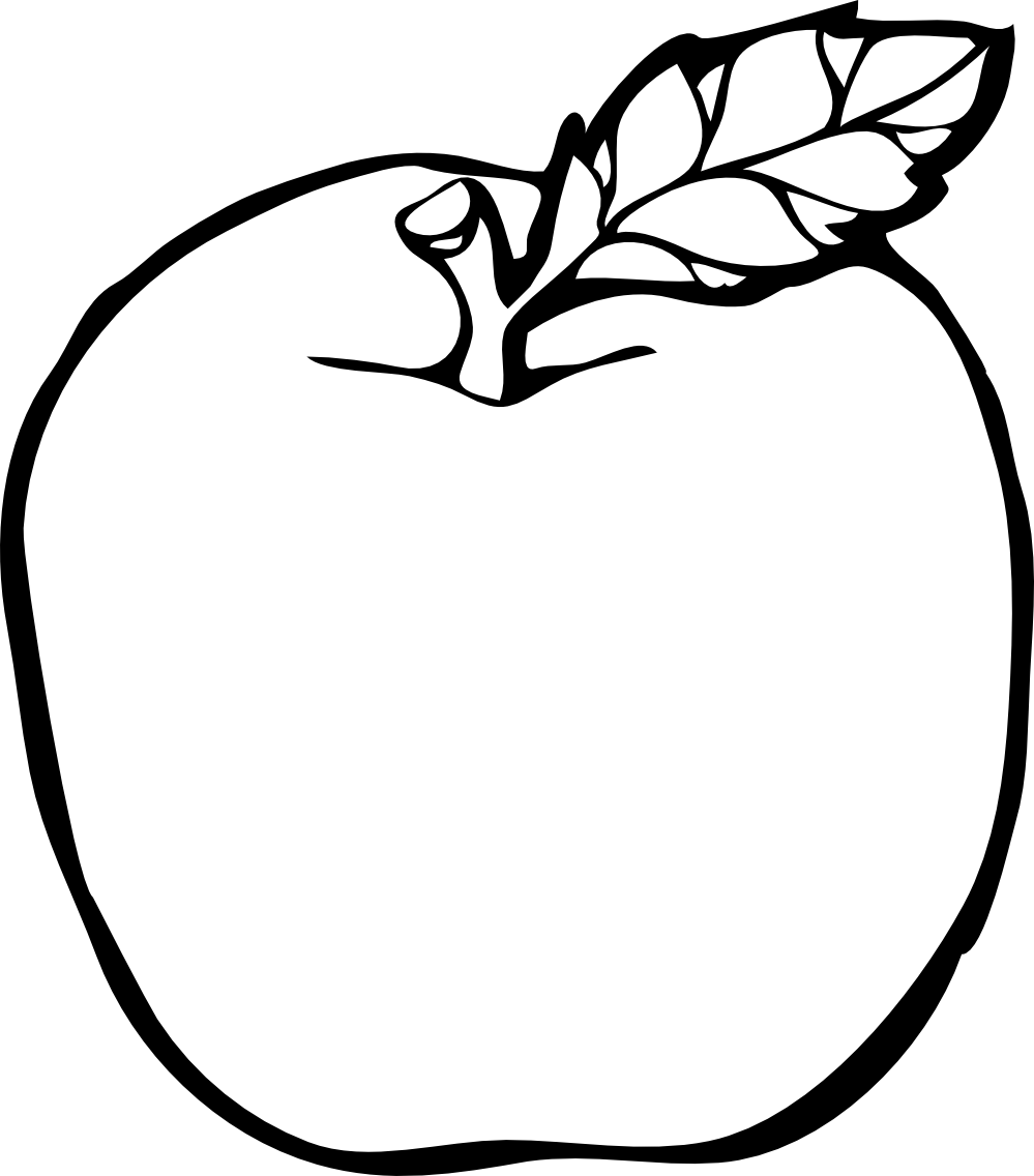White fancy apple clipart