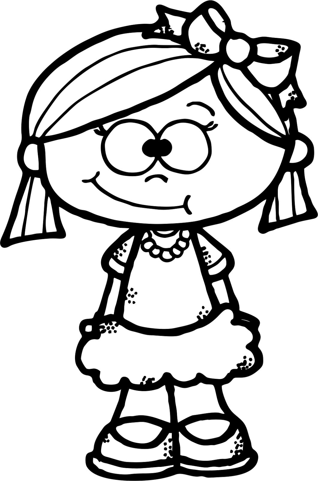 House painting clipart black and white svg freeuse WorksheetJunkie: Cute girl Clipart Freebie | dibujos | Pinterest ... svg freeuse