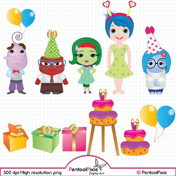 Inside out joy clip art image royalty free library Emotions Clipart set, Birthday Clipart - INSTANT DOWNLOAD | Bing ... image royalty free library