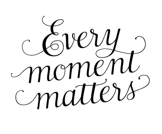 Inspirational clipart quotes clip black and white stock Digital Quotation Clipart Motivational Every moment matters Aphorism ... clip black and white stock
