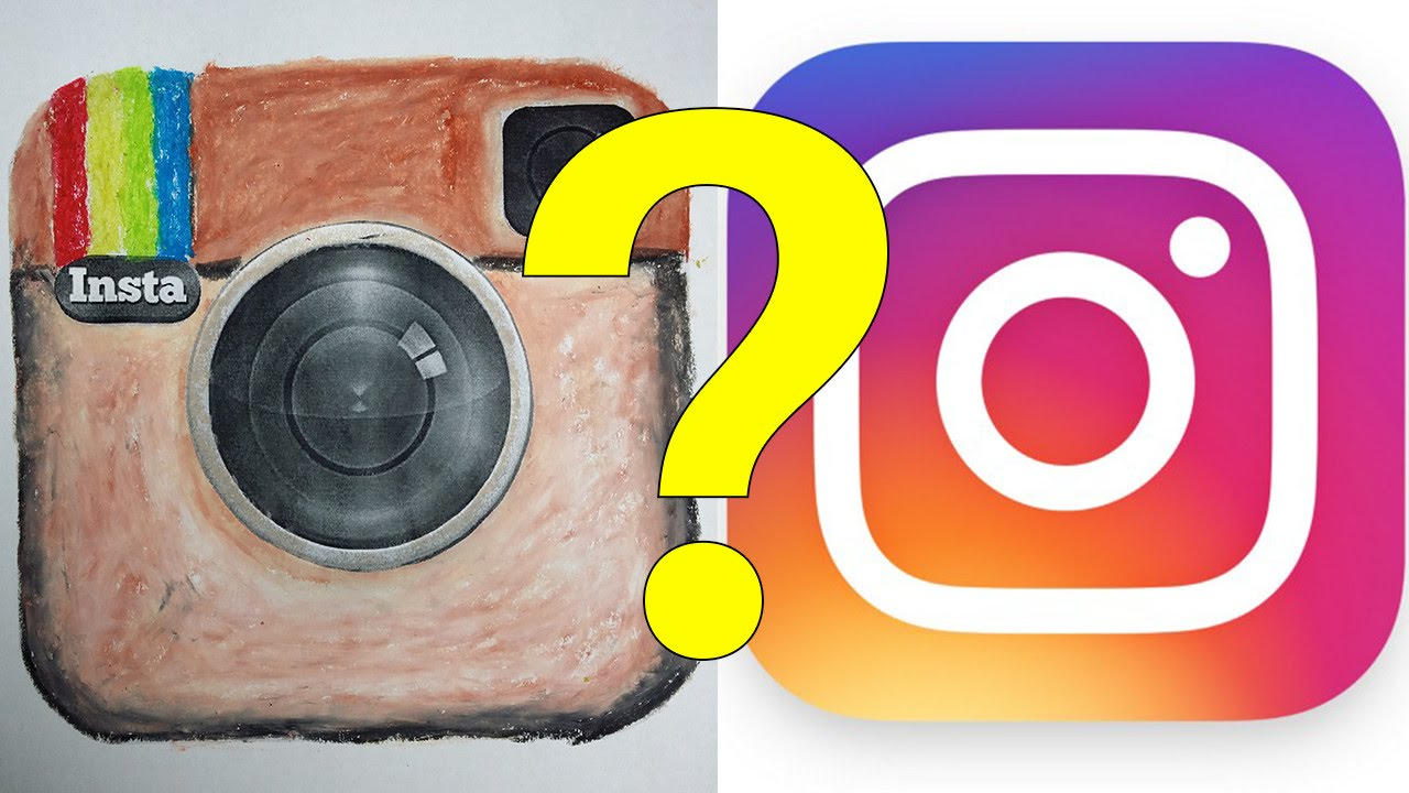 Instagram app icon clipart png black and white library Instagram New App Icon Logo, Why?! - YouTube png black and white library