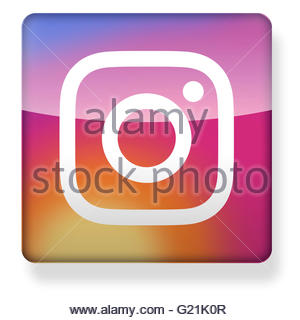 Instagram app icon clipart image free library New Instagram Logo As An App Icon. Clipping Path Included Stock ... image free library