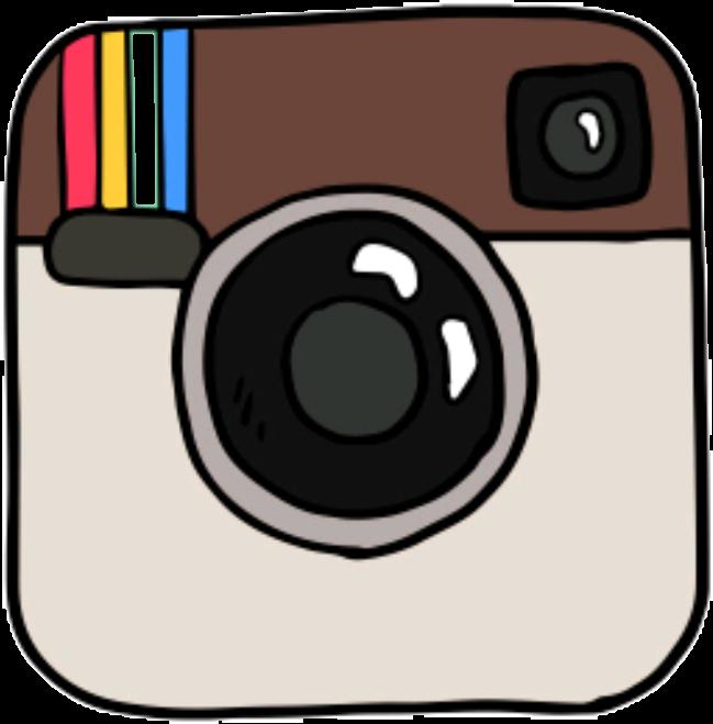 Instagram camera clipart vector library download tumblr instagram draw dibujo - Sticker by Coco♡ vector library download