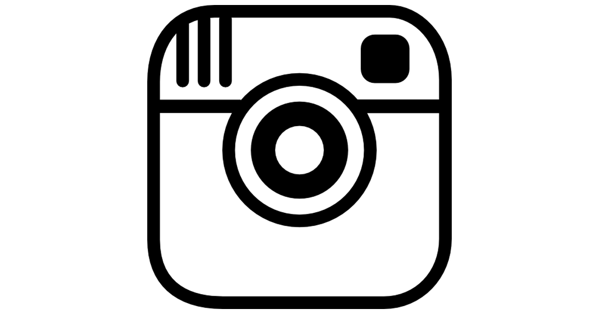 Instagram clipart black and white picture freeuse stock Instagram photo camera logo outline - Free logo icons picture freeuse stock