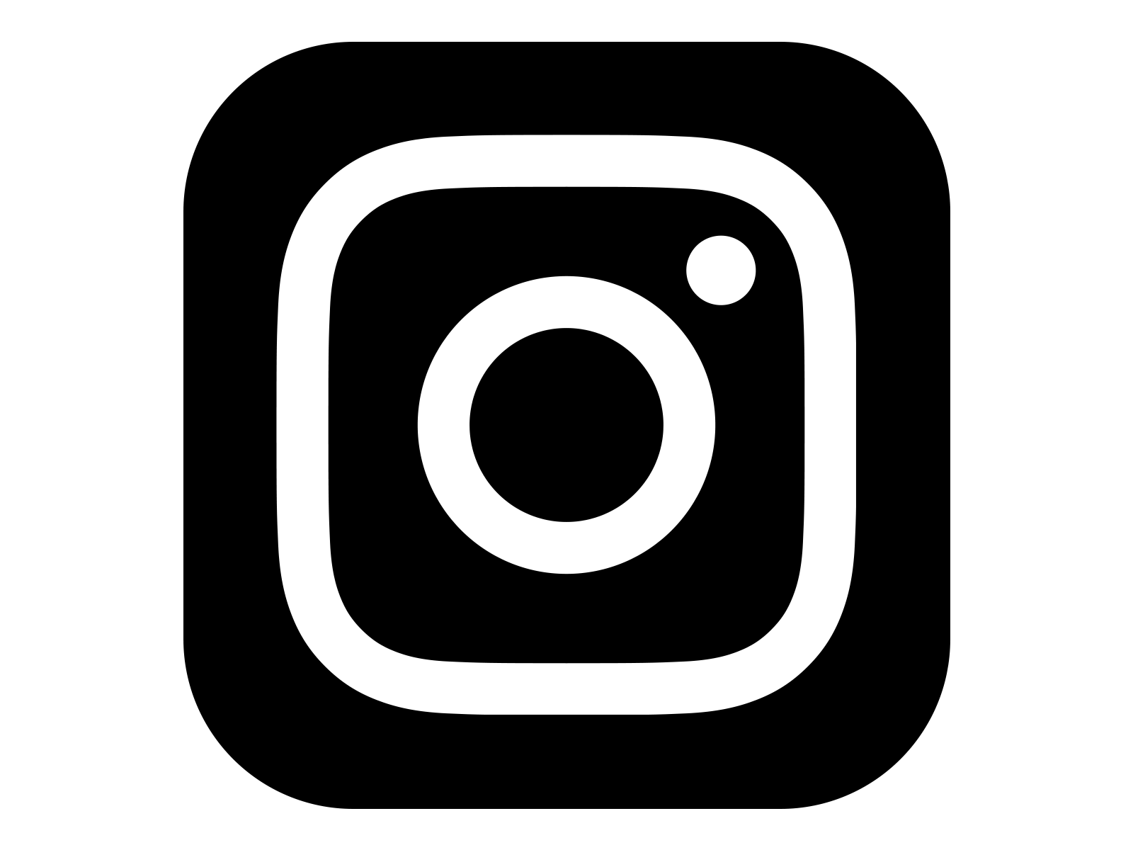 Instagram logo clipart free png black and white download Instagram Logo - Freebie Supply png black and white download