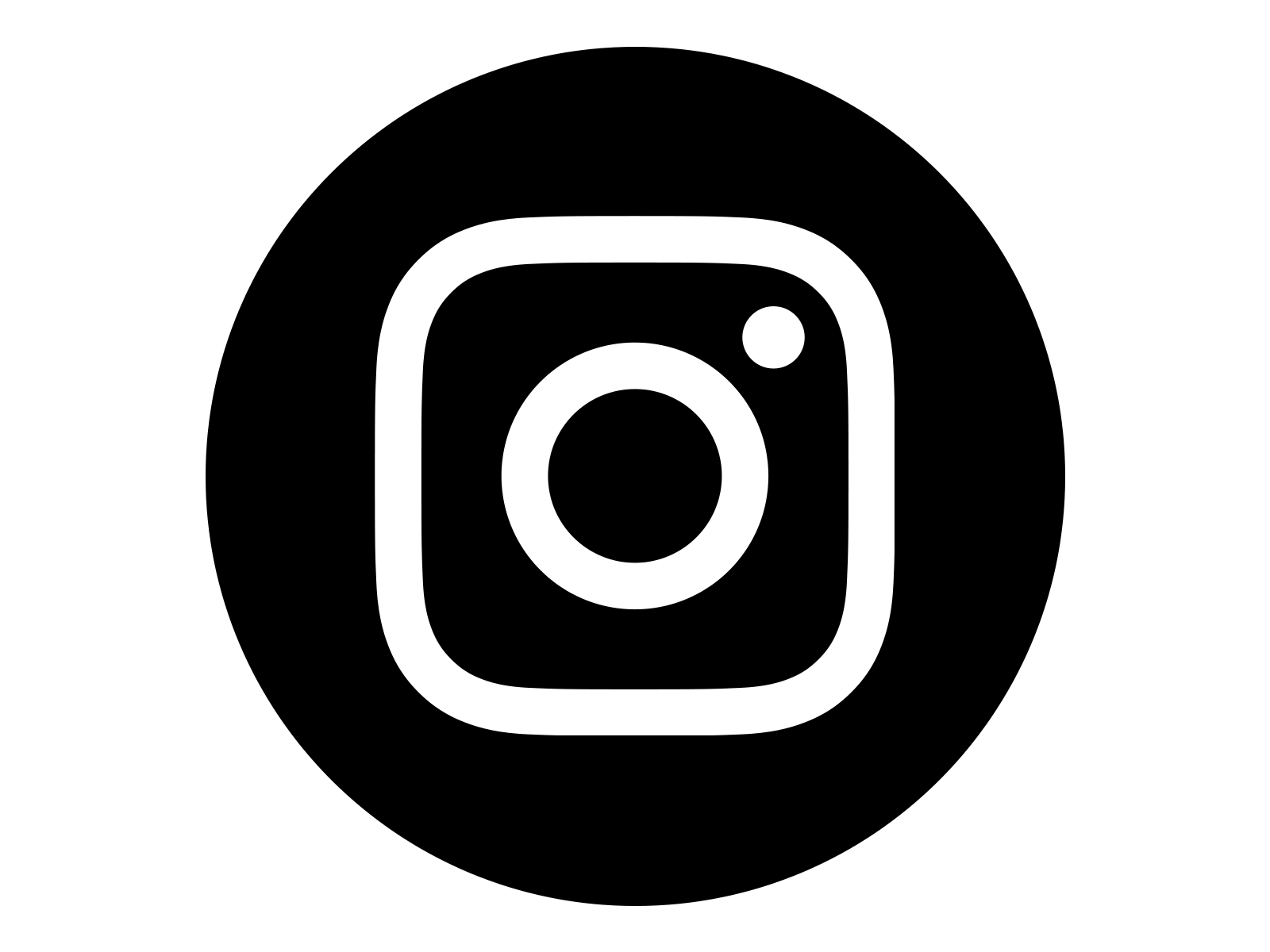 Simbolo do instagram clipart vector black and white stock Instagram Icon White on Black Circle | png en 2019 | Logo de ... vector black and white stock