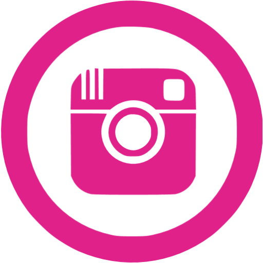 Instagram clipart circle graphic transparent library Barbie pink instagram 5 icon - Free barbie pink social icons graphic transparent library