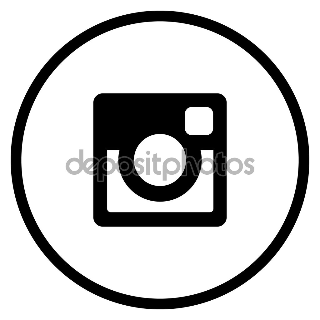 Instagram clipart circle clipart free stock Original Black Circle Instagram Icon — Stock Vector © bigxteq ... clipart free stock