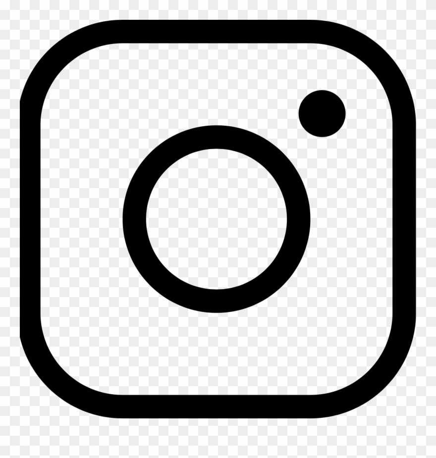Instagram white clipart graphic free library Instagram Icon - Free Instagram Logo Black Clipart (#1580825 ... graphic free library