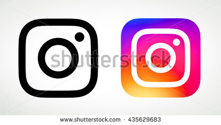 Instagram logo clipart free picture black and white Instagram New Logo Stock Images, Royalty-Free Images & Vectors ... picture black and white