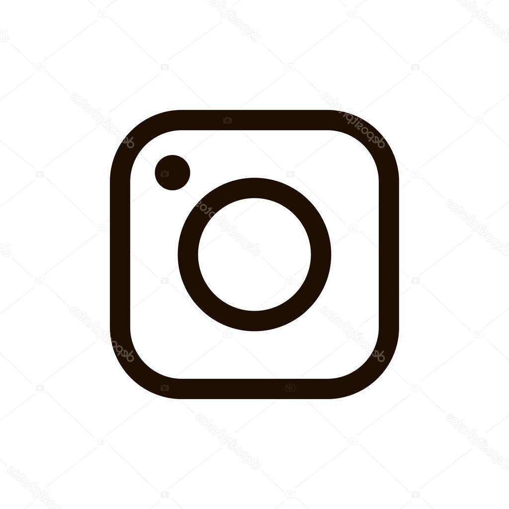 Logo instagram vector clipart clip black and white Top Instagram Icon Vector Cdr » Free Vector Art, Images, Graphics ... clip black and white