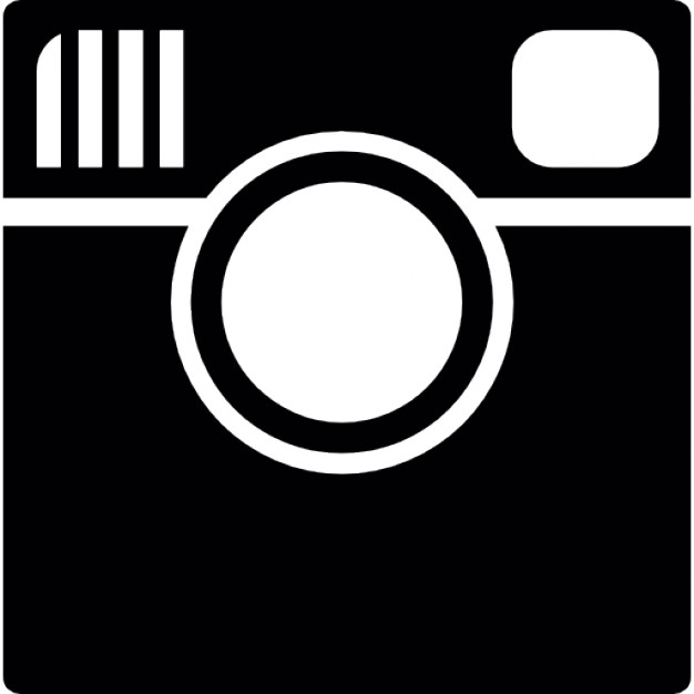 Instagram logo printable clipart clipart black and white Instagram logo Icons   Free Download clipart black and white