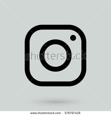 Instagram social media clipart vector stock Instagram Social Media Icon Stock Vector 576797428 - Shutterstock vector stock