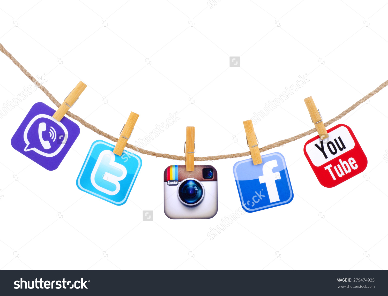 Instagram social media clipart clip freeuse download Kiev Ukraine May 19 2015 Popular Stock Photo 279474935 - Shutterstock clip freeuse download