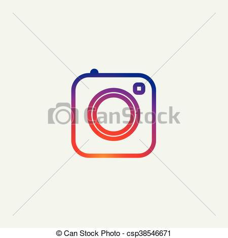 Instagram social media clipart clip royalty free stock Vectors Illustration of Social Media Icon, photo camera instagram ... clip royalty free stock