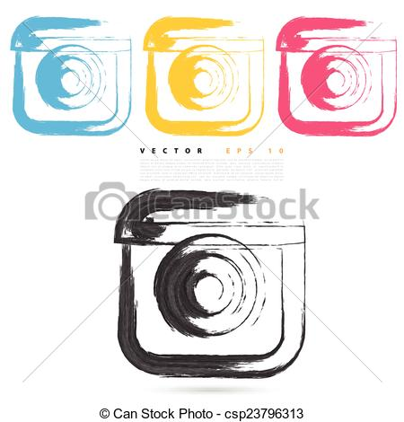 Instagram vector clipart graphic black and white download Instagram clipart vector - ClipartFest graphic black and white download