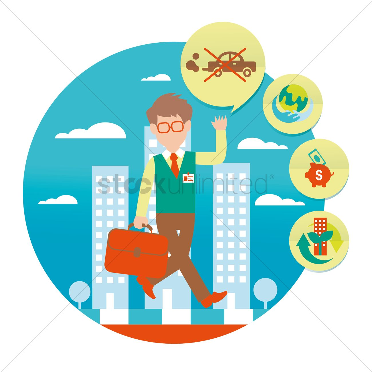 Instead clipart image freeuse Free Man walking instead of driving Vector Image - 1509165 ... image freeuse