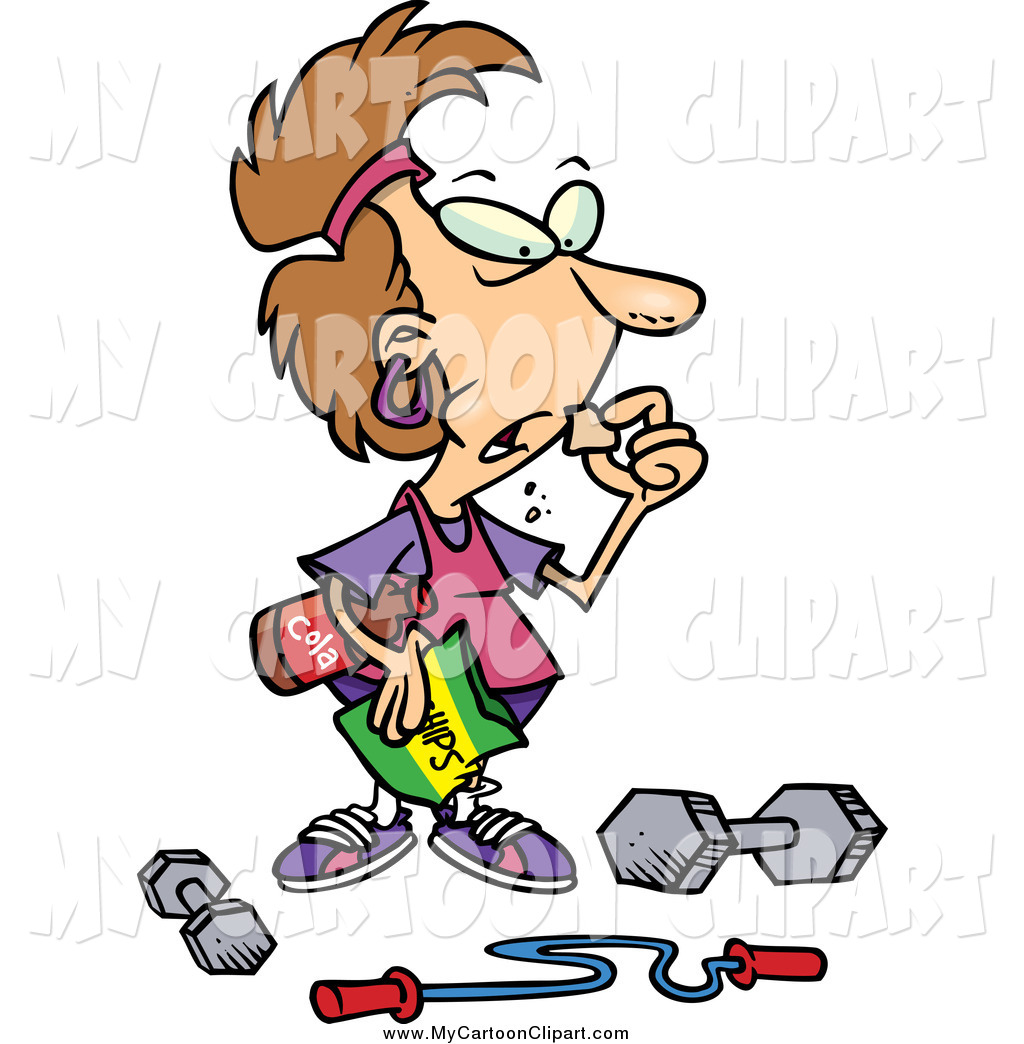 Instead clipart free library Clip Art of a Brunette White Woman Pigging out Instead of Exercising ... free library