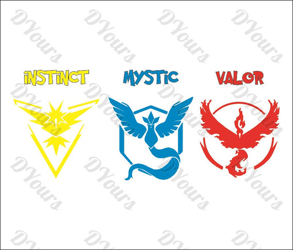 Instinct clipart svg free library Pokemon Go Teams Instinct Mystic Valor Vector Clipart - Svg Cdr Ai ... svg free library