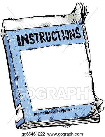 Instruction clipart jpg Stock Illustration - Worn instruction booklet. Clipart Drawing ... jpg
