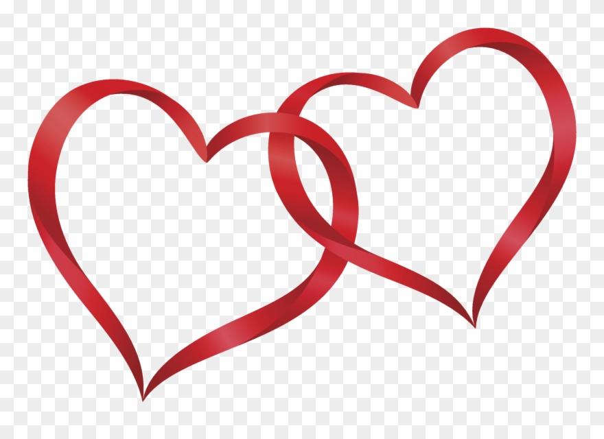 Interlocking hearts clipart graphic freeuse library Interlocking Hearts Clip Art Pictures To Pin On Pinterest - Two Red ... graphic freeuse library