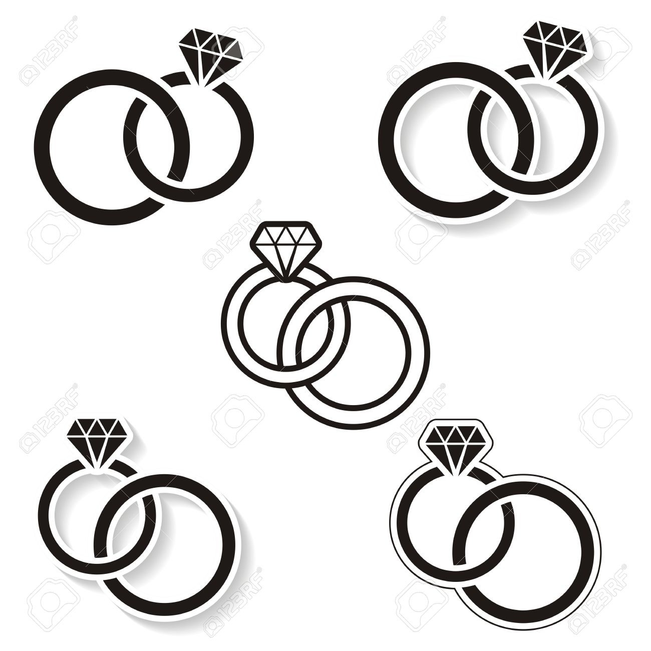Interlocking wedding ring clipart clipart royalty free download Interlocking Wedding Rings Drawing at PaintingValley.com | Explore ... clipart royalty free download