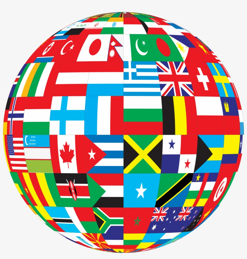 The international clipart image library International Globe Clipart - Globe With Flags Icon - Free ... image library