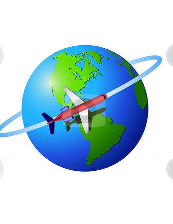 International flight clipart clipart freeuse stock Travel around the world stock vector clipart freeuse stock