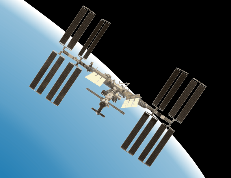 International space station clipart png free Free Clipart: International Space Station with Earth | Rambo Tribble png free