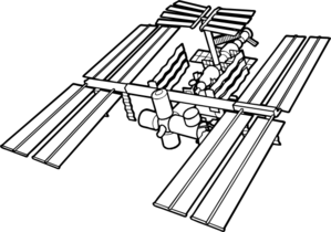 International space station clipart jpg royalty free stock Space Station Art Clip Art at Clker.com - vector clip art online ... jpg royalty free stock