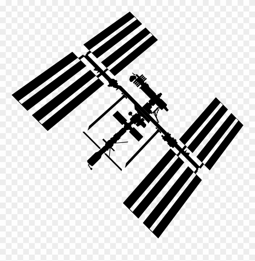 International space station clipart clip art free library Big Image - International Space Station Clipart - Png Download ... clip art free library