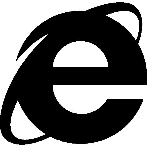 Internet explorer logo clipart graphic black and white download Internet explorer logo Icons | Free Download graphic black and white download