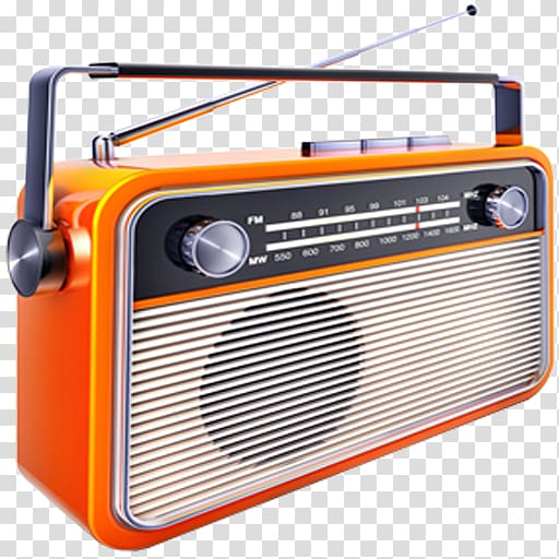 Internet radio clipart png freeuse stock Orange and black radio, Internet radio FM broadcasting Music Radio ... png freeuse stock