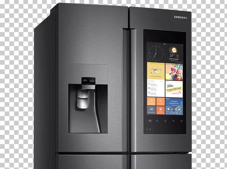 Internet refrigerator clipart svg freeuse stock Internet Refrigerator Freezers Samsung Stainless Steel PNG, Clipart ... svg freeuse stock