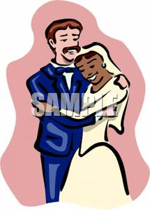 Interracial couple clipart png transparent library Interracial Couple Getting Married - Royalty Free Clipart Picture png transparent library