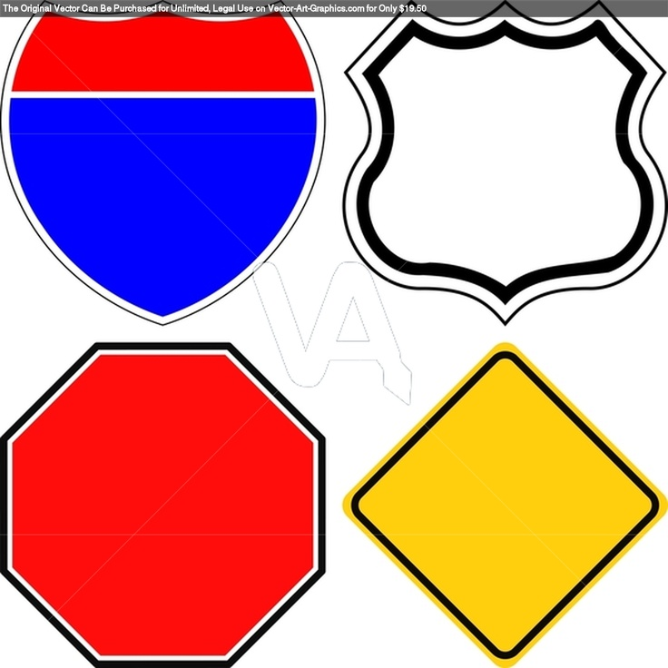 Interstate highway sign clipart svg transparent stock Road Sign Template Clipart | Free download best Road Sign Template ... svg transparent stock