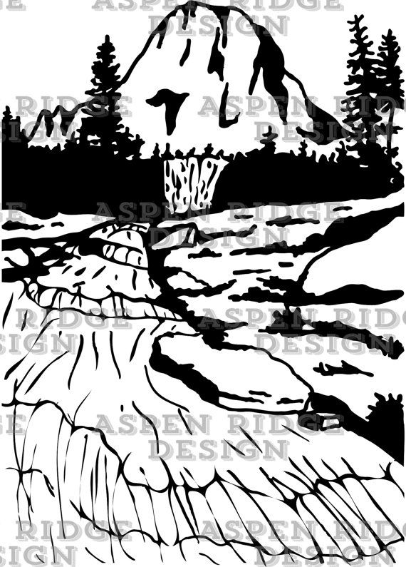 Into the wild clipart svg free stock Glacier National Park, Mountain with river clipart, Wilderness ... svg free stock