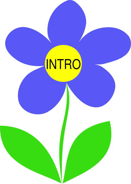 Intro clipart banner black and white Blue Flower Intro PNG, SVG Clip art for Web - Download Clip Art, PNG ... banner black and white