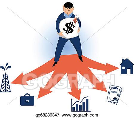 Investment clipart graphic transparent Vector Clipart - Choosing typles of investments. Vector ... graphic transparent
