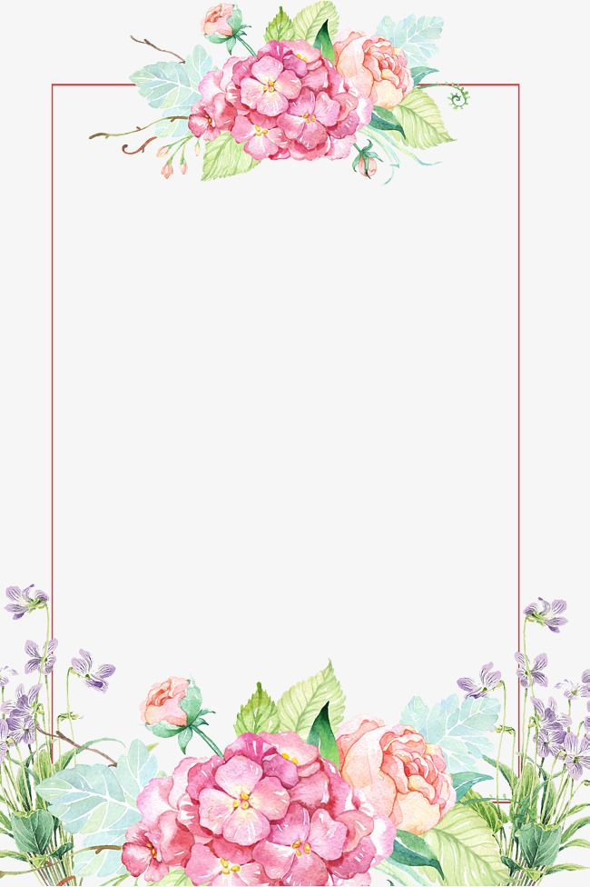 Invitaciones de 15 a+-os clipart banner library Beautiful Flower Borders, Flower Borders, Painted Flowers ... banner library