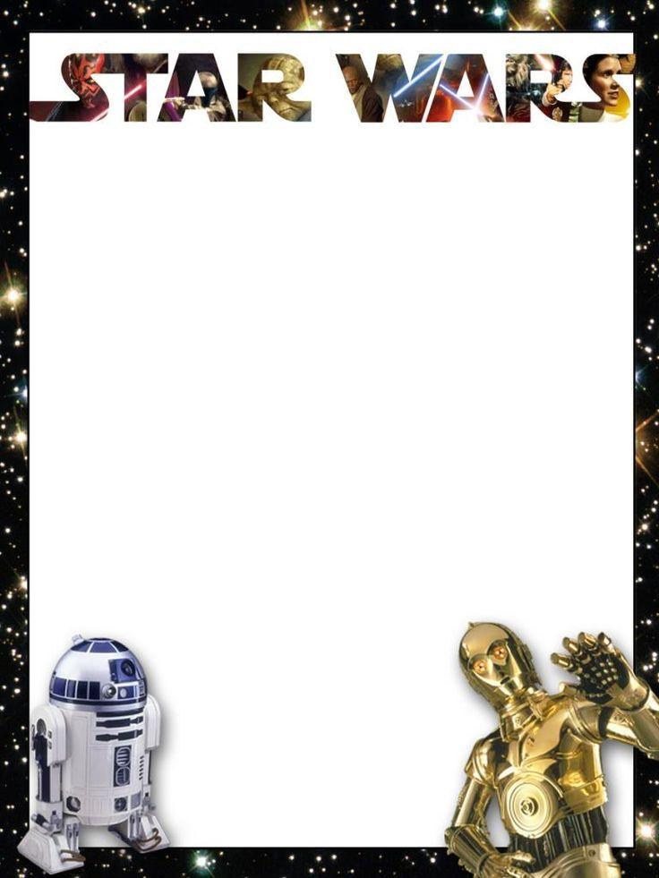 Invitaciones de cumpleanos clipart picture freeuse library Star Wars Border Clipart - Clipart Kid   Imprimibles e ... picture freeuse library