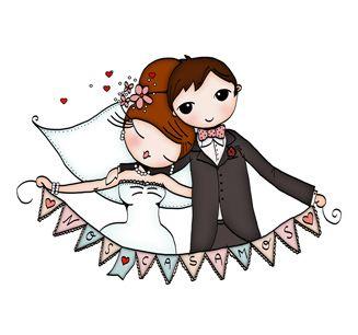 Invitaciones para boda clipart vector black and white download Novios, Invitaciones de Boda Creativas | wedding vector black and white download