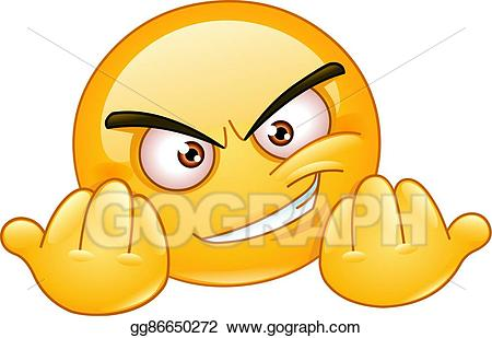 Invitiny clipart jpg transparent Vector Stock - Invitation to fight emoticon. Clipart ... jpg transparent