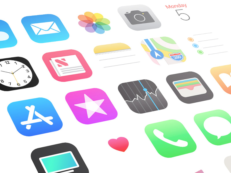 Ios 11 icons clipart clipart transparent library iOS 11 App Icons Sketch freebie - Download free resource for ... clipart transparent library