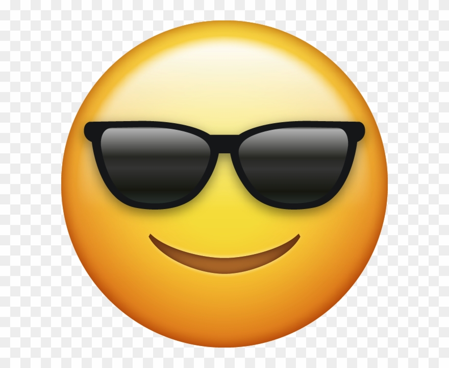 Ios emoji clipart download picture freeuse library Download Sunglasses Cool Emoji Face [iphone Ios Emojis ... picture freeuse library
