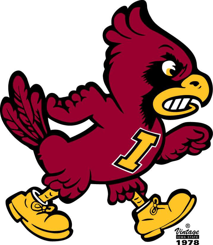 Iowa state university logo clipart vector transparent library Iowa State Cyclones Primary Logo - NCAA Division I (i-m) (NCAA i-m ... vector transparent library