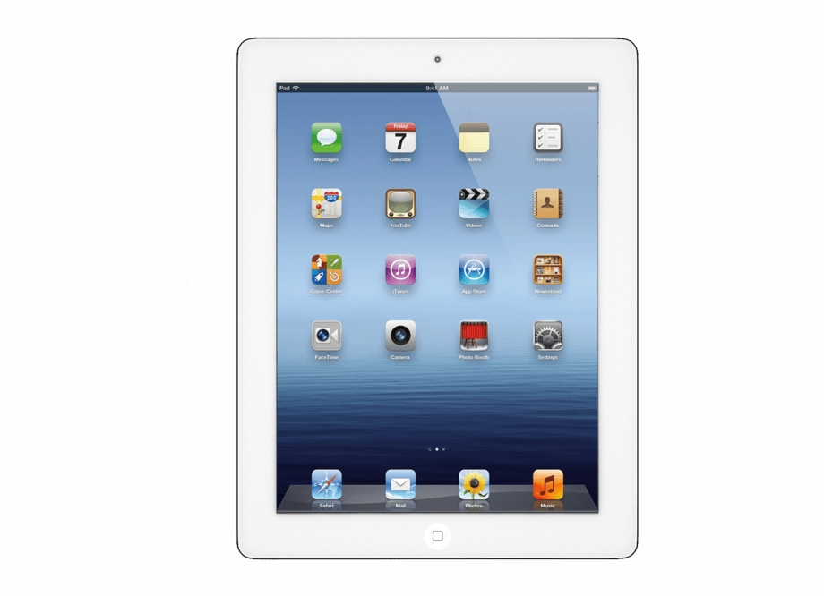 Ipad 4 clipart jpg free library Ipad Air Repair - Apple Ipad 4 White Free PNG Images ... jpg free library