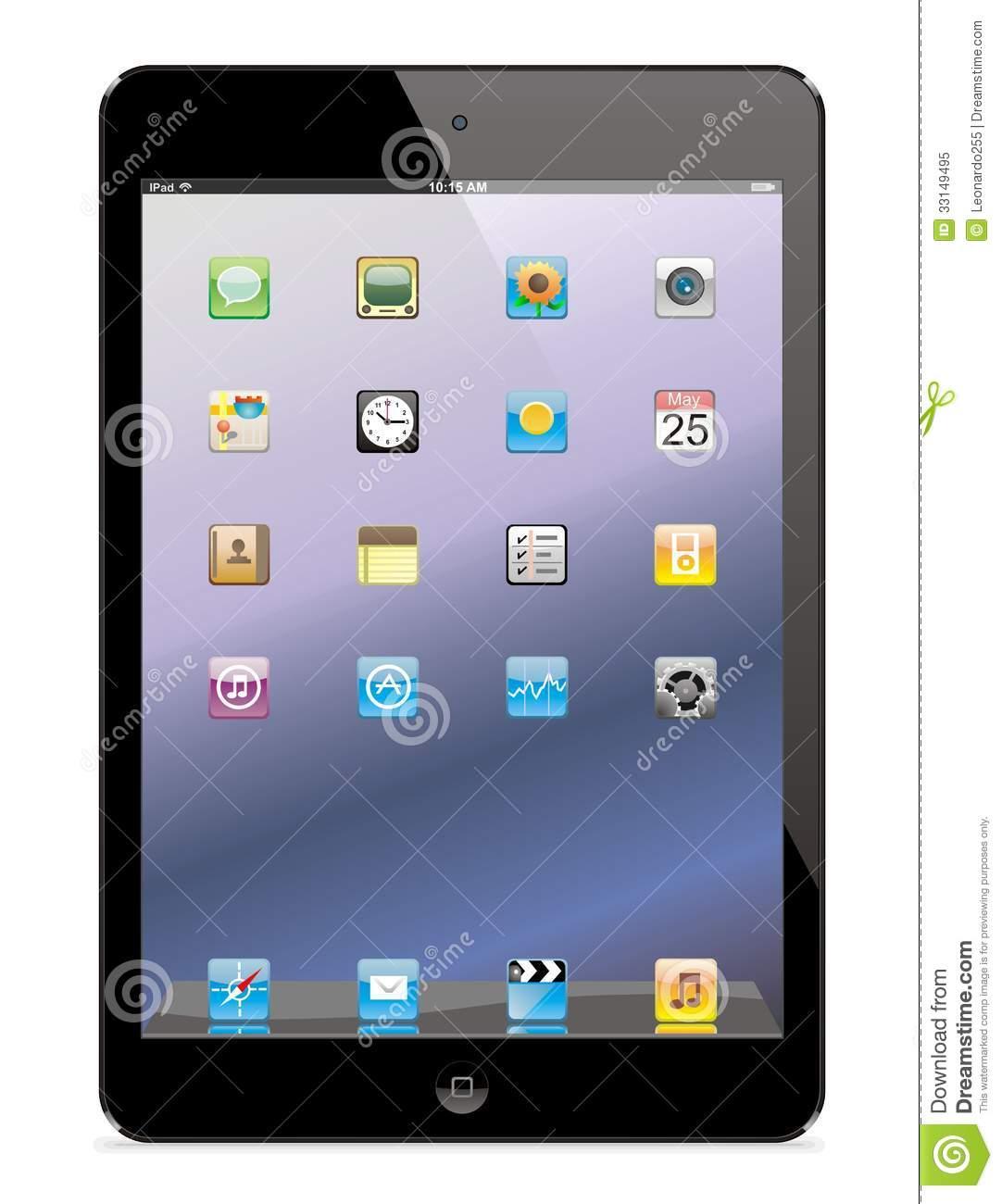 Ipad app clipart clip art freeuse Electronic iPad Clip Art – Clipart Free Download clip art freeuse