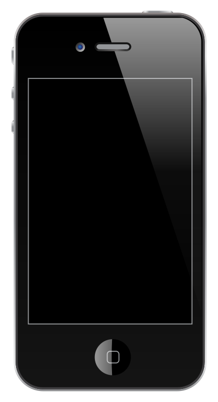 Iphone 4 s clipart vector transparent Free Clipart: IPhone 4/4S | jhnri4 vector transparent