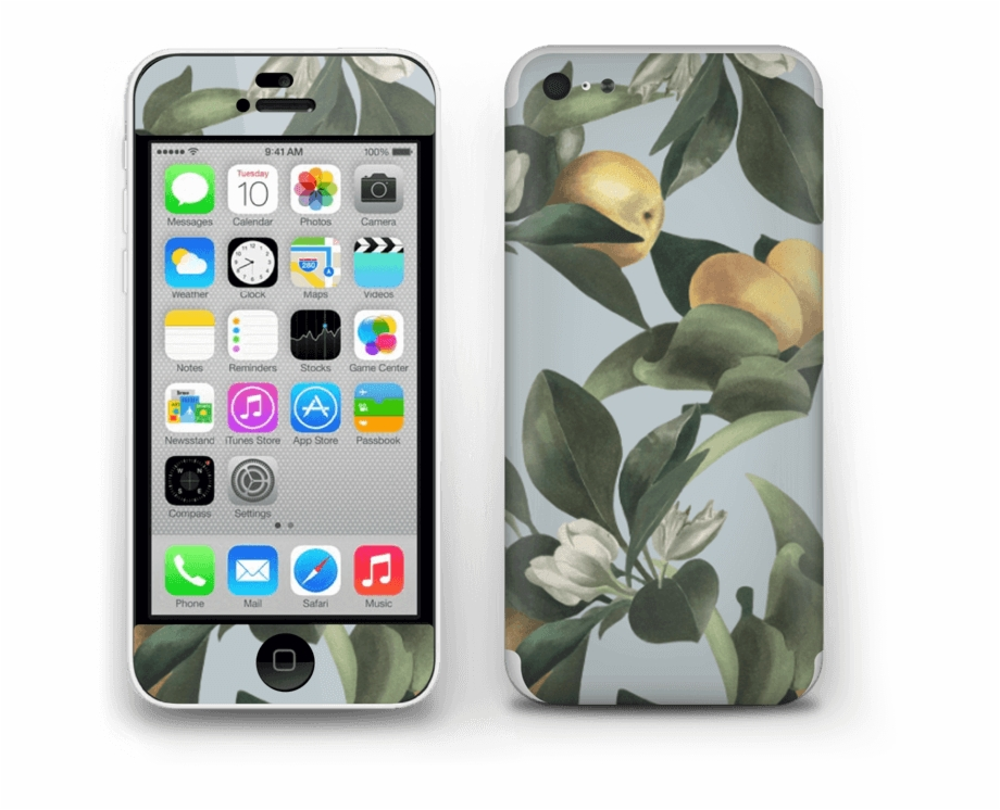 Iphone 5c clipart picture black and white Lemon Flower Skin Iphone 5c - Iphone 5c Free PNG Images ... picture black and white